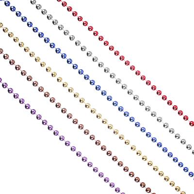 378-187 СНОУ БУМ Бусы декоративные, 270см, средние d1см, пластик, цвет VA3