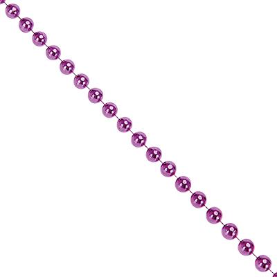 378-206 СНОУ БУМ Бусы декоративные, 200см, крупные d1,2см, пластик, цвет фиолет