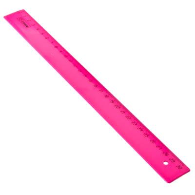 526-481 Линейка СТАММ 30 см, неоновая, 4 цвета