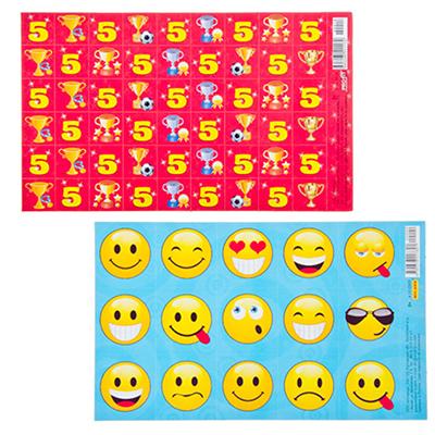 583-074 Наклейка 15,3x9,2см, бумага, ассорти 7 дизайнов, арт.4-10-0009/4-10-0039