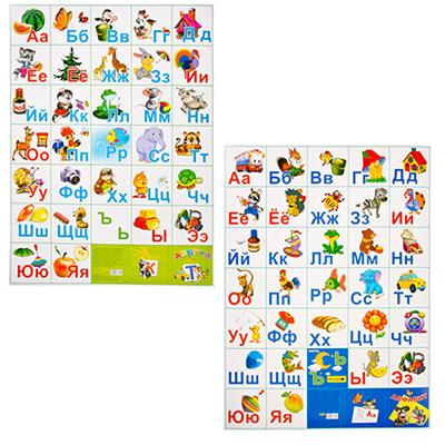 583-077 Плакат А2 Азбука, бумага, 67х48см, арт.10-01-0002