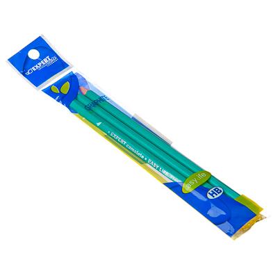 525-100 Набор карандашей 3шт, ч/гр. HB без ластика, дерево, 2,5х18х1,0см, арт.703460
