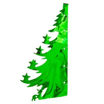 377-302 СНОУ БУМ Гирлянда-подвеска 38х36см, ПВХ, зеленая, в виде Елочки, арт.0026