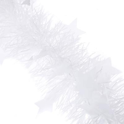 377-305 СНОУ БУМ Мишура 200х8см, ПВХ, белая со звездами, арт.2202