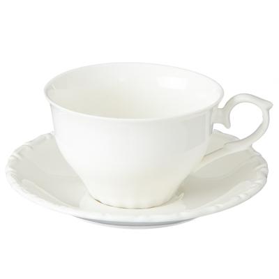 """816-243 Набор кофейный 2пр (чашка 250мл, блюдце 14,5см) """"Элегия"""", керамика"""