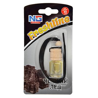 """794-345 Ароматизатор в машину подвесной, аромат черный лед, """"Freshline"""" NEW GALAXY"""