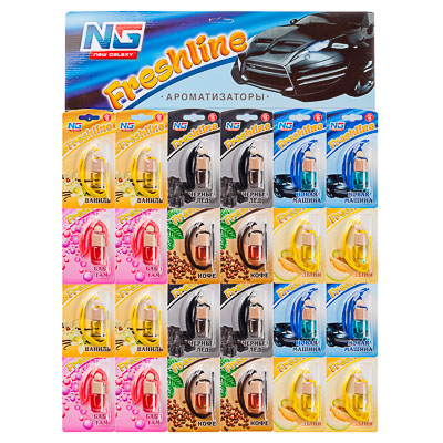 """794-350 Ароматизатор для автомобиля, """"Freshline"""", лист 24 шт, цена за шт"""