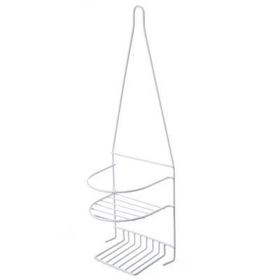 463-749 Полочка навесная для ванной комнаты, двухъярусная, металл, ПВХ покрытие, 25х45х8см