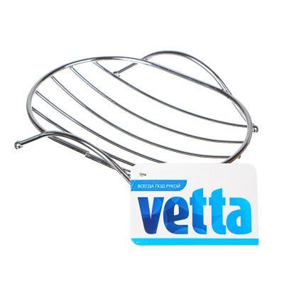 463-750 Мыльница овальная VETTA, металл, 12,5х9х4см