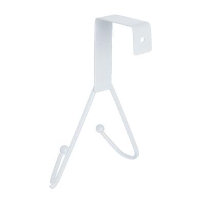 465-164 Вешалка надверная, 2 крючка, металл, 12х15х5см, 3 цвета