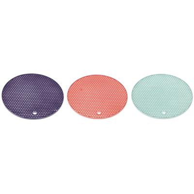891-298 Подставка под горячее СОТЫ, d.18 см, силикон