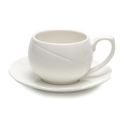 """816-247 Набор кофейный 2пр (чашка 250мл, блюдце 14,5см) """"Элегия-1"""""""