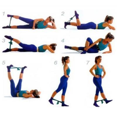 191-041 Лента эластичная для йоги и пилатеса, 150х15х0,035 см, 3 цвета, SILAPRO
