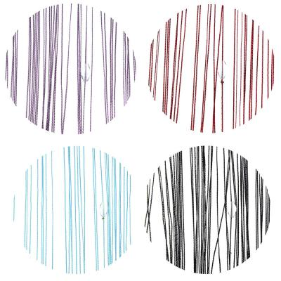 497-006 Занавеска нитяная межкомнатная с лентой, полиэстер, 1х2м, 5 цветов,