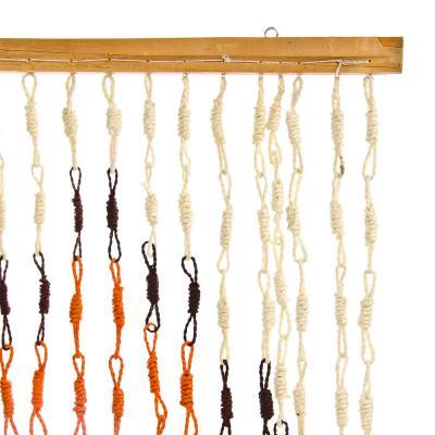 """496-001 Занавеска межкомнатная бамбуковая, 90х180см, 3 цвета, """"Спираль"""""""