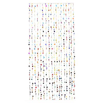"496-004 Занавеска межкомнатная декоративная, пластик, 80x180см ""Монетки"", 2 цвета"
