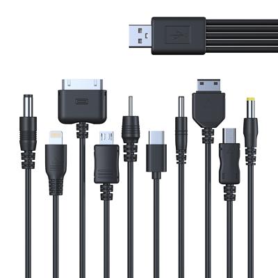 916-005 FORZA USB Кабель для зарядки телефонов универсальный, 10 в 1, 24см