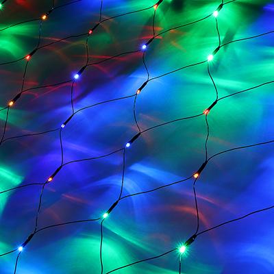 362-070 Гирлянда электрическая сетка СНОУ БУМ 144 LED, 1,6x1,6 м, мультицвет, 8 режимов