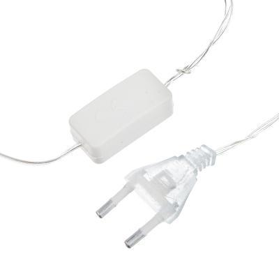 362-076 СНОУ БУМ Гирлянда электр. сеть 144LED, 1,6x1,6м, белый, 8 реж, прозр. провод, 220В