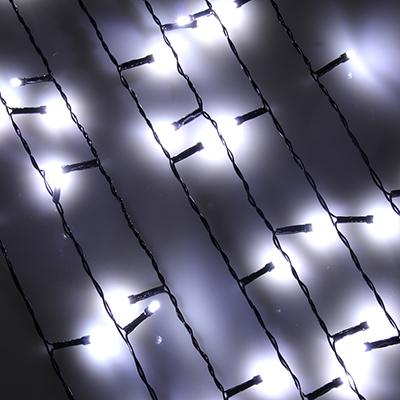 382-016 Гирлянда светодиодная Бахрома СНОУ БУМ 96LED, 3x0,7 м, белый, ПВХ провод, 220В