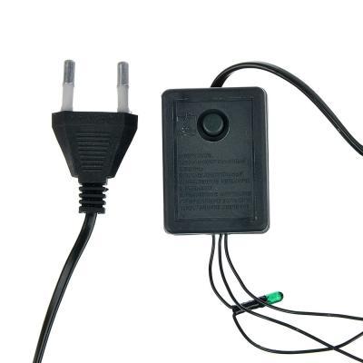 384-019 СНОУ БУМ Гирлянда электрическая вьюн 3м, 30 ламп,мультицвет, 8 реж, темный провод, 220В