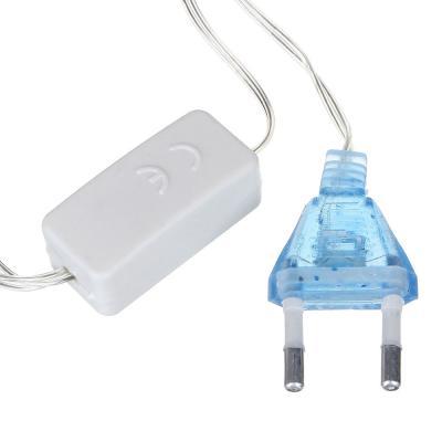 384-040 Гирлянда светодиодная Вьюн СНОУ БУМ 14м, 180 LED, голубой, мерцание, прозрачный провод, 220В