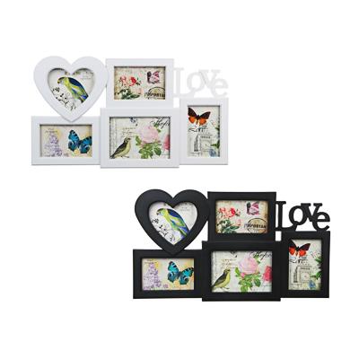520-391 Фоторамка на 5 фотографий, пластик, 53х31см, арт.101-8, 2 цвета