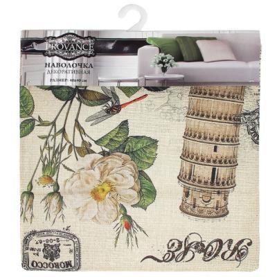 482-551 Декоративная наволочка для подушки рогожка, 40х40см