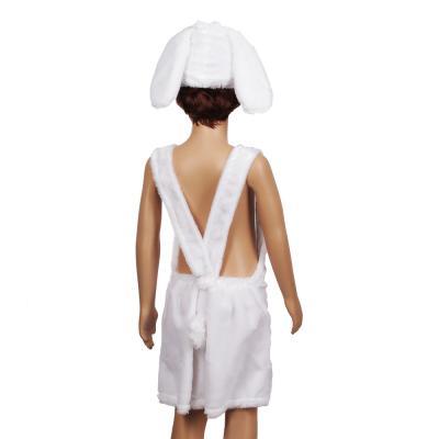 """389-092 Костюм карнавальный 4-7лет, маска, комбинезон, искусственный мех облегченный, """"Зайчик белый"""""""