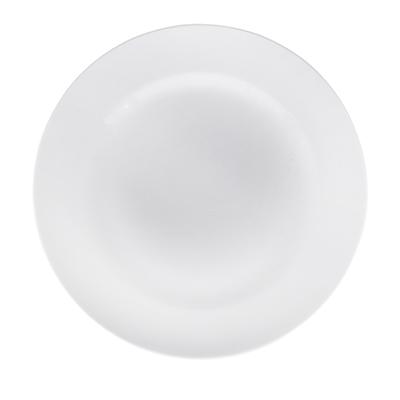 814-106 Тарелка мелкая без рисунка белая 175 мм, фарфор