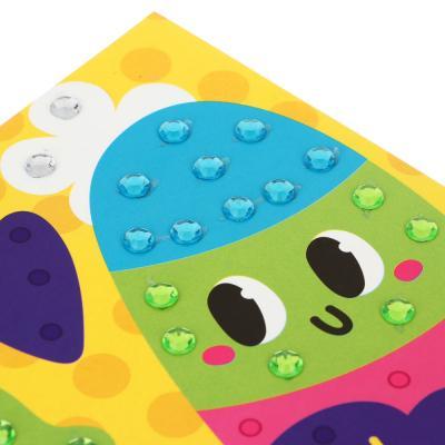 """281-067 ХОББИХИТ Аппликация из страз """"Микс"""", бумага, пластик,19х26см, 12 дизайнов"""