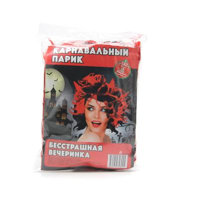 391-103 СНОУ БУМ Парик маскарадный с рожками, пластик, 120гр, арт.2202