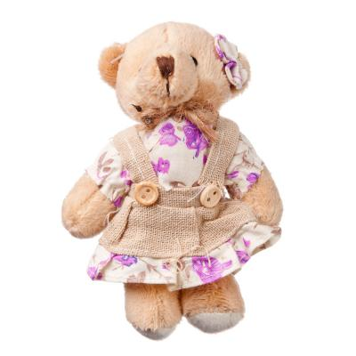 """264-094 Игрушка мягкая """"Медвежонок из Прованса"""", плюш, 12х8см, 4 дизайна"""