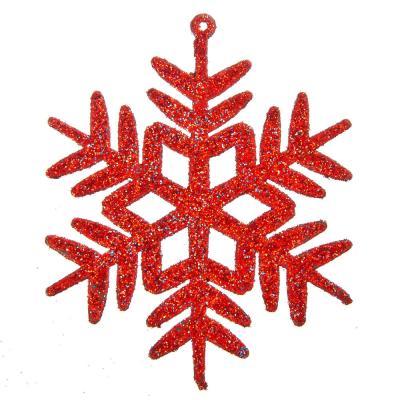 376-573 СНОУ БУМ Набор украшений 4шт, в виде снежинки, пластик, 8х8см, арт.НР-16-158