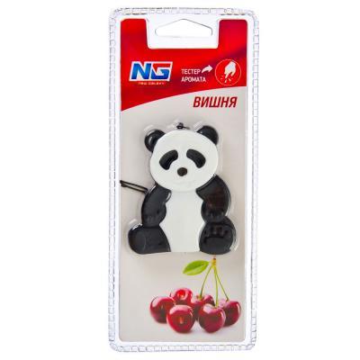 "794-362 Ароматизатор в машину, аромат вишня, гелевая игрушка ""Панда"", NEW GALAXY"