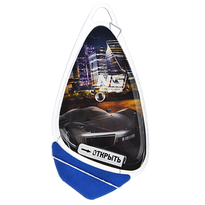 """794-367 Ароматизатор для  автомобиля, аромат черный лед, подвесной гелевый, """"Racer"""" NEW GALAXY"""