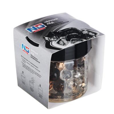"""794-376 Ароматизатор в машину гелевый в банке, аромат черный лед, """"Жемчужины"""""""