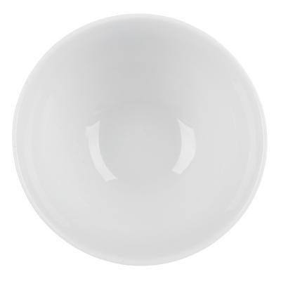 814-114 Пиала без рисунка белая 370 мл, фарфор