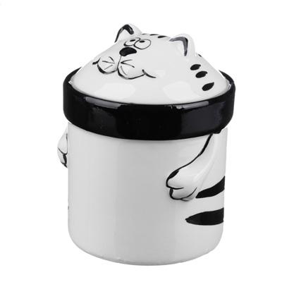 824-667 MILLIMI Милый котик Банка для сыпучих продуктов, 390мл, керамика