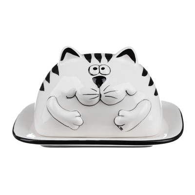 824-668 MILLIMI Милый котик Масленка, 17x14x9см, керамика