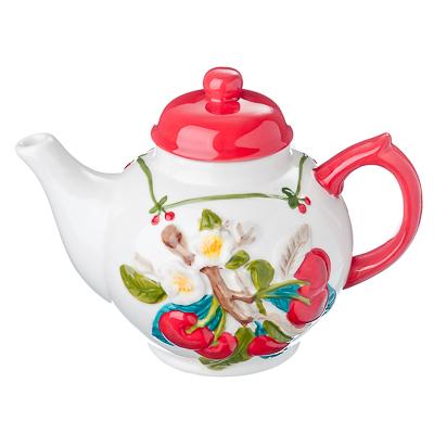 824-688 Цветущая вишня Чайник заварочный, 730мл, керамика