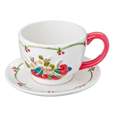 824-691 Цветущая вишня Чайная пара, 360мл, керамика