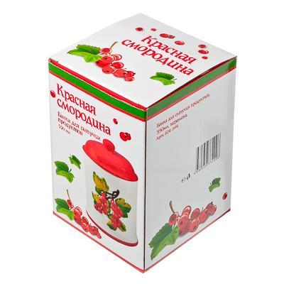 824-694 Красная смородина Банка для сыпучих продуктов, 550мл, керамика