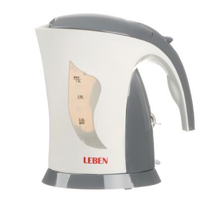 291-868 LEBEN Чайник электрический 1,0л, 1000Вт, спиральный нагр.элемент