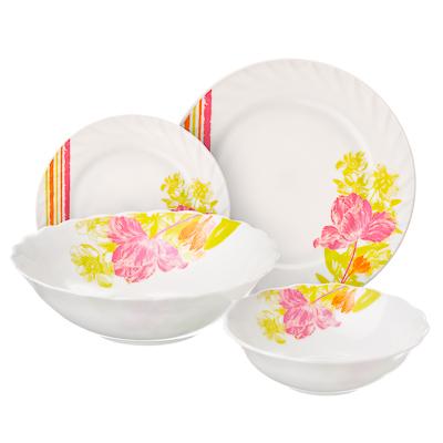 818-903 VETTA Аннета Набор столовой посуды 19 пр., опаловое стекло, W-19B6