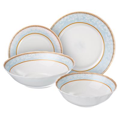 818-915 Кристина Набор столовой посуды, опаловое стекло, 19 пр., H19D