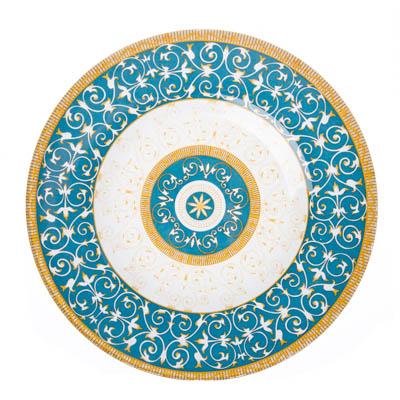830-394 VETTA Орнамент Тарелка десертная стекло 200мм, S3008