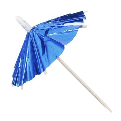 530-113 Набор шпажек праздничных с зонтиком 12шт, дерево, 9,5см