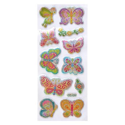 503-481 Набор наклеек, ПВХ, в виде бабочек, 18,5х7см, 2 дизайна