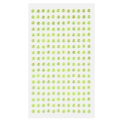 """503-488 Наклейка декоративная """"Волшебные жемчужинки 0,7"""", пластик, 22,5х10см, 6-7 цветов"""
